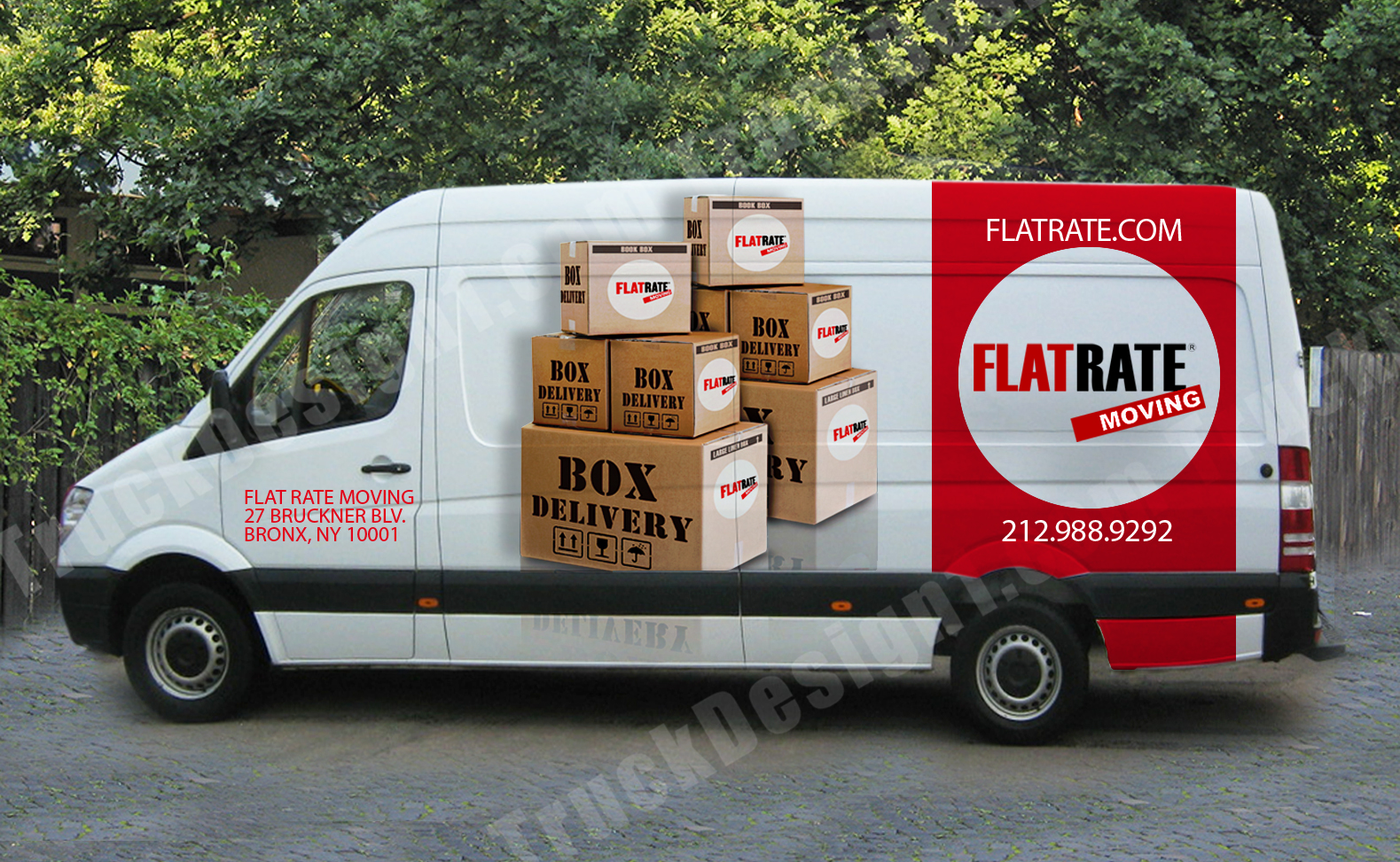 Flat rate sprinter mercedes sprinter wrap design for flat rate moving