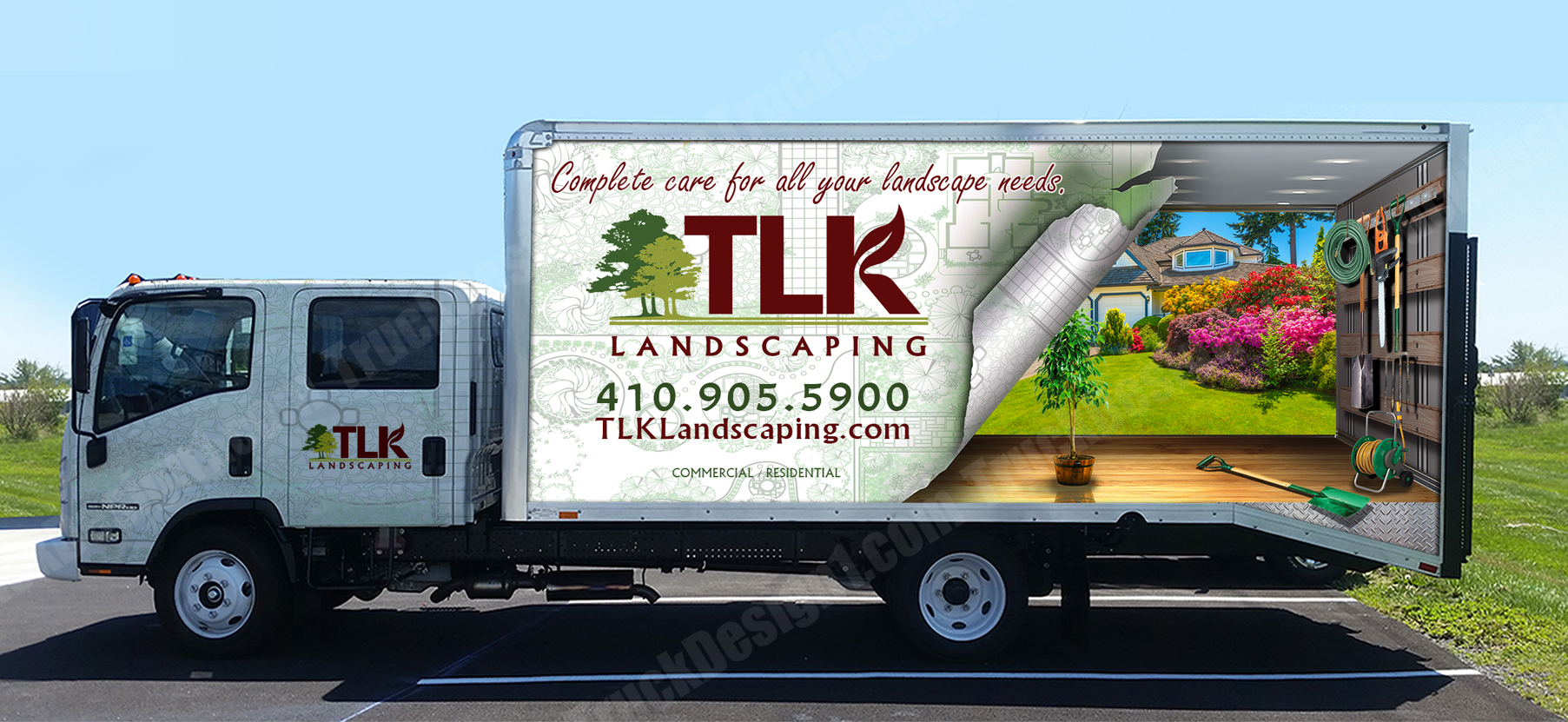 Truck Design - Truck, Van, Car, Wraps Graphic Design, 3D